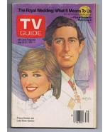 ORIGINAL Vintage TV Guide July 25, 1981 No Label Prince Charles & Lady D... - $18.55