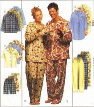 Adult Teens Boys Nightshirt Top Flannel Pants Shorts Pajamas PJS Sew Pat... - $13.99