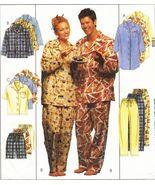 Adult Teens Boys Nightshirt Top Flannel Pants Shorts Pajamas PJS Sew Pat... - $11.99