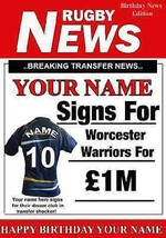 A5 Worcester (Warriors)  FAN Greeting Birthday Card any name Rugby PIDWWR - $3.85