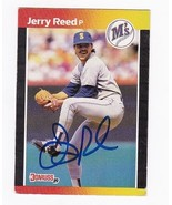 JERRY REED AUTOGRAPHED CARD 1989 DONRUSS SEATTLE MARINERS - $2.68