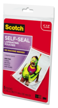 "New Lot of 2 x 5 Scotch 3M Self-Sealing Laminating Pouches 4"" x 6"" PLG00G image 3"