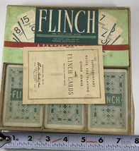 Vintage Parker Brothers 1951 FLINCH Card Game Large Box Version  Salem, ... - $17.82