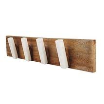 Marble and Wood Coat Hook Rack – Handmade Wood Coat Rack Organizer– Hand... - $19.18