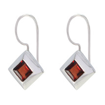 jewelry 925 Sterling Silver comely Natural Red Earring gift UK - $11.13