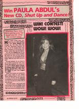 Paula Abdul teen magazine pinup clipping new cd purse