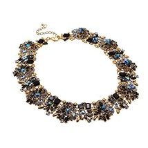 XBY-Jewel Vintage Multi-Color Choker Statement Necklace Collar with (Col... - $25.41