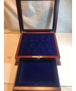 A Century Of US Silver Coins - PCS Stamps And Coins - Woden Coin Display... - $37.05