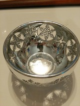 Bed Bath Body Works Decorative Shiny Silver Snowflake Bowl Candle Holder - $14.25