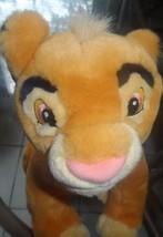 Simba Plush Lion King Disney Store Exclusive Young Cub Soft Stuffed - $7.87
