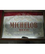 "Vintage 1987 Anheuser-Busch ""Michelob Beer Since 1896"" Framed Bar Mirror... - $44.54"