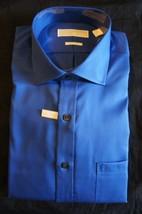 Michael Kors Mens Dress Shirt Sz 16½ French Blue Solid Non Iron Button F... - €40,59 EUR