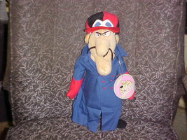 """18"""" Dick Dastardly Plush Doll With Tags From Wacky Racers Hanna Barbera - $98.99"""