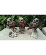 Vintage Owl Figurine Collectables 3 Piece Retro - $16.34