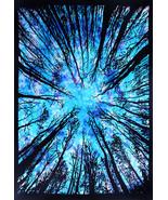 Twin Size Tie Dye Forest Bohemian Hippie Beach Blanket 100% Cotton Bedsp... - $21.98
