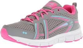 Ryka Women's Hailee Cross Trainer Grey/Pink/Blue 9.5 M US - $60.16
