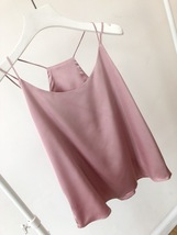 Summer Sleeveless Silky Tanks Top Dusty Pink Party Tanks Wedding Bridesmaid Tops image 15