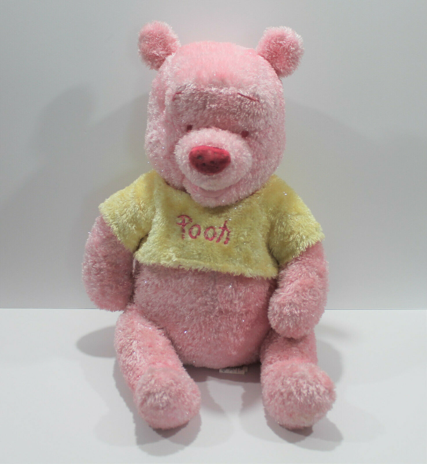 "Primary image for Disney Store Winnie the Pooh Pink Yellow Sparkle 20"" Plush Stuffed Animal"