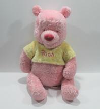 "Disney Store Winnie the Pooh Pink Yellow Sparkle 20"" Plush Stuffed Animal - $23.12"