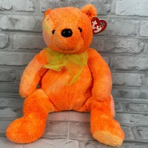 TY 2001 Tangerine the Bear Beanie Buddy New With Tag Elongated Nose Oran... - $12.59