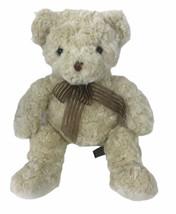 "Unipak Cream Ivory Bear 17"" Plush Brown Ribbon - $47.51"