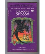 ORIGINAL Vintage 1983 Endless Quest #13 Dragon of Doom Paperback Book - $14.84