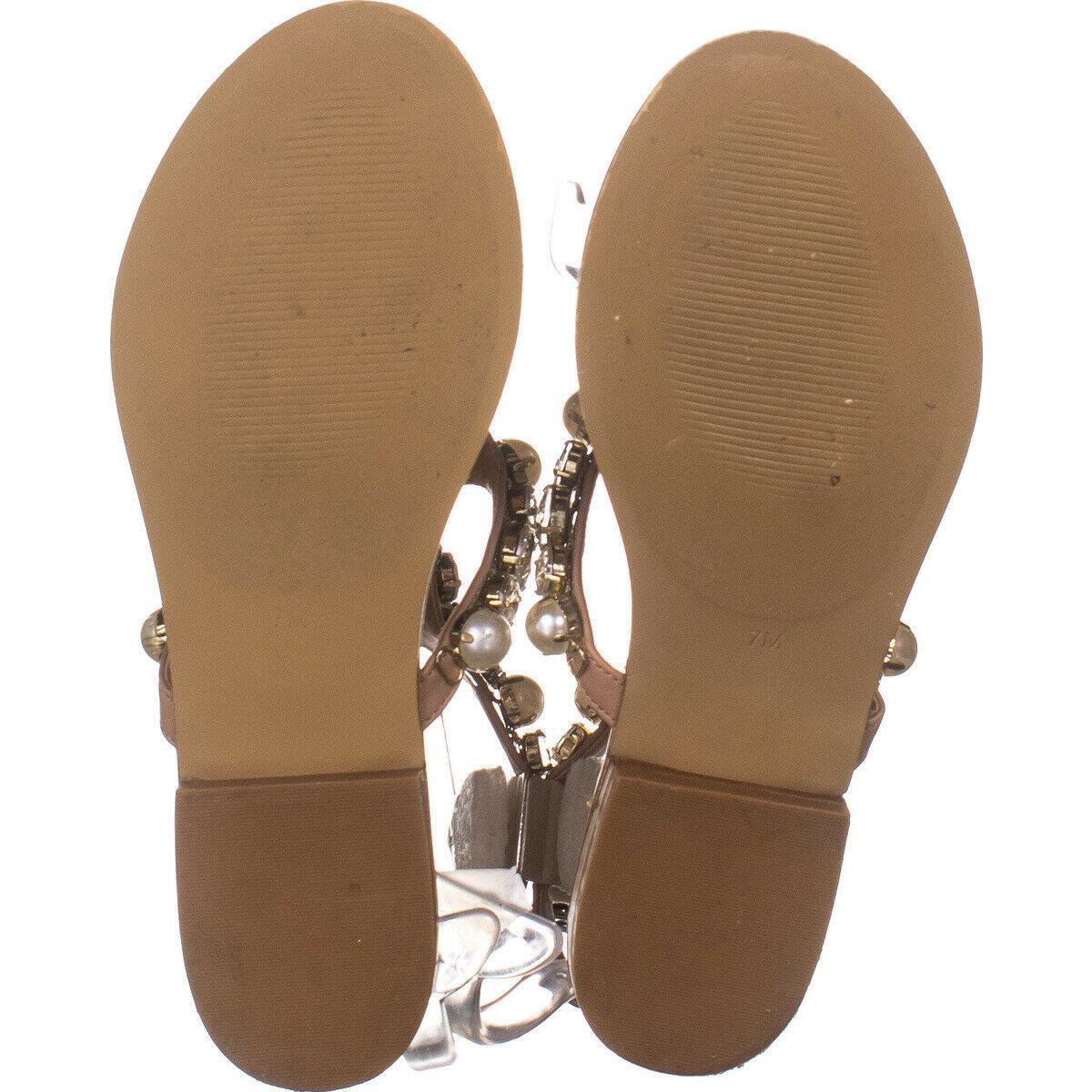 Steve Madden Chantel Flat Ankle Strap Sandals, Blush Multi 115, Blush Multi, 7 image 6