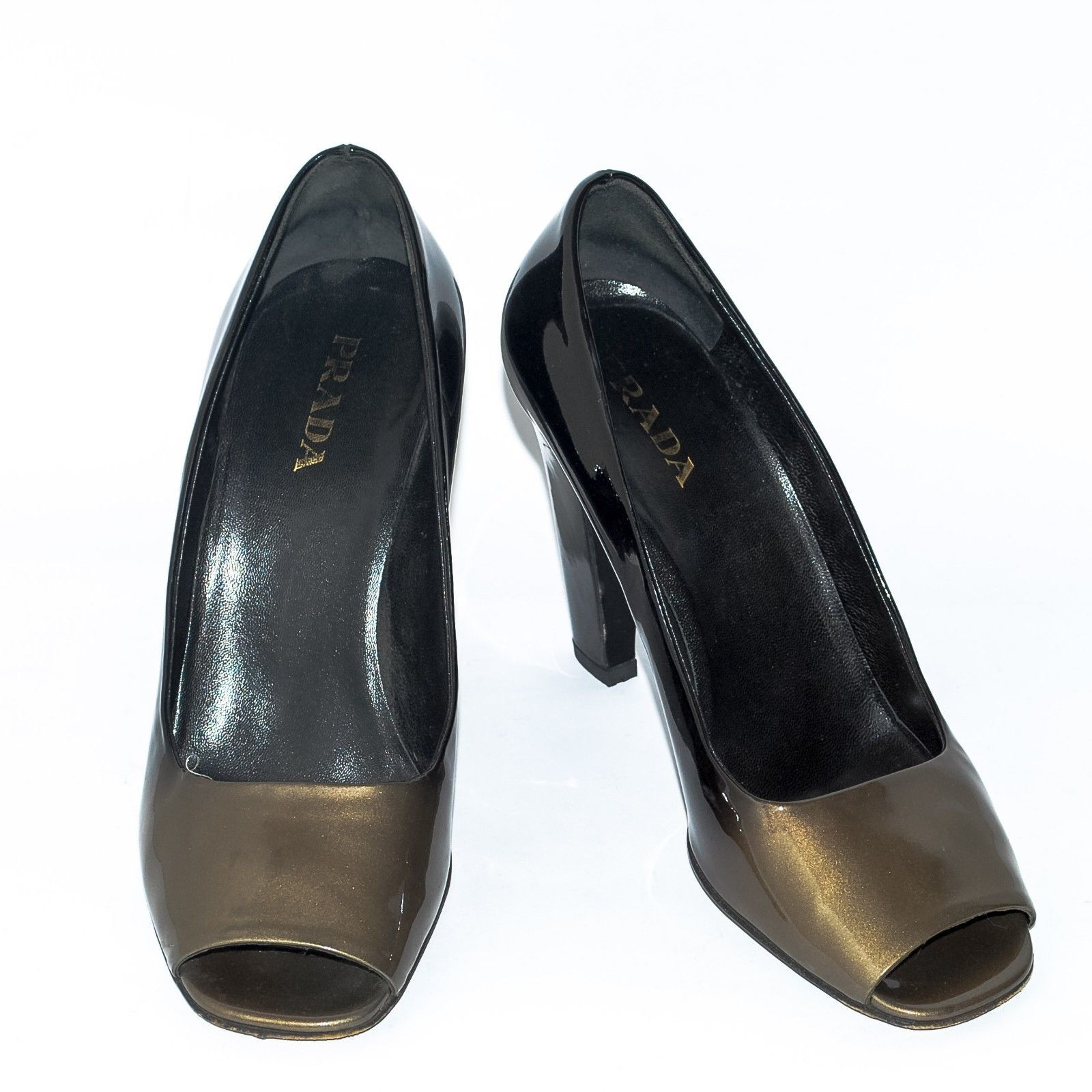 4564ab546390 PRADA Metallic Black Patent Leather High and 50 similar items. S l1600