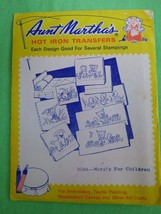 Aunt Martha's Hot Iron Transfers 3594 Motifs For Children Vintage New Un... - $7.91