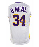 Shaquille O'Neal Signed Custom White Pro Style Basketball Jersey JSA ITP - $217.79