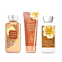 Bath & Body Works Warm Vanilla Sugar Body Set | Shower Gel, Body Lotion ... - $34.02