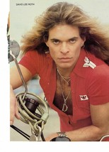 David Lee Roth teen magazine pinup clipping Tiger Beat Teen Beat Bop Rockline