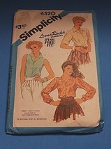 Vintage Sewing Pattern Simplicity 6520 Misses Shirt Pattern Size 16 - $9.89