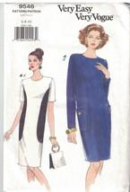 9546 Non Tagliati Vogue Cartamodello Misses Vestibilità Comoda Dritto Abito - $9.86