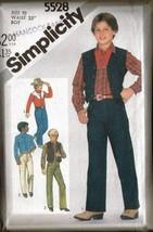 Vintage 1982 Simplicity Pattern 5528 Boy's Western Clothes, Sz 10 - $9.99