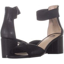 White Mountain Evie Criss Crossed Ankle Strap Sandals 830, Black, 6.5 US - $29.75