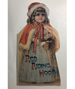 Vintage Red Riding Hood Oversize Children's Book Fairy Tale Die Cut - $28.25