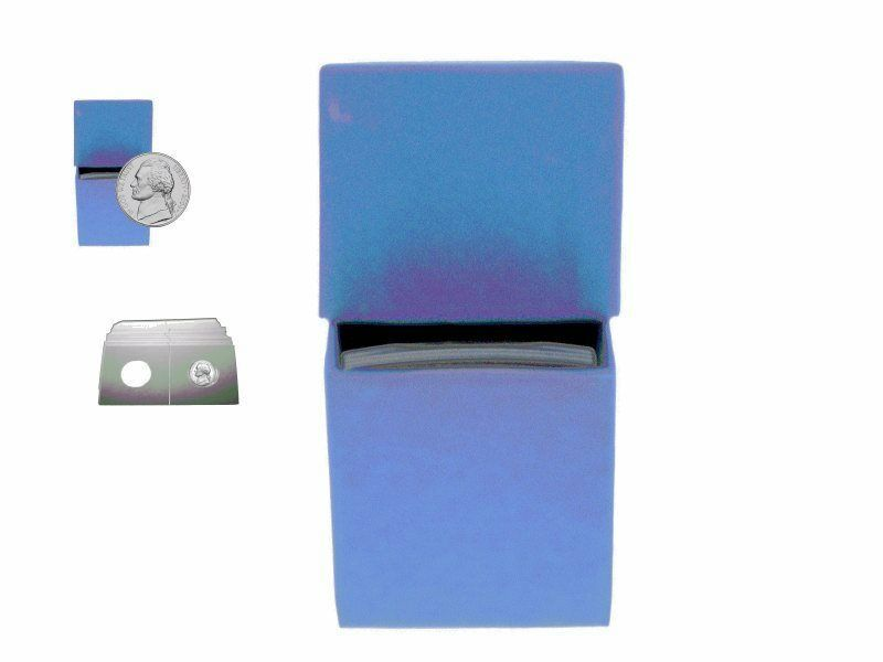 "Guardhouse Blue/Nickel Coin Box with 100 flips, 2"" x 2"" x 8.5"" image 5"