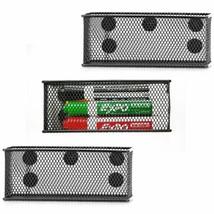 Wire Mesh Storage Basket Markers Pens Magnetic 3pcs Organizer Baskets Se... - $36.71