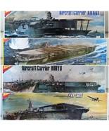 Nichimo 1/500 scale Aircraft Carriers Akagi, Hiryu, Zuikaku, Shokaku: only to HK - $283.10
