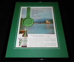 1968 Usher's Green Stripe Scotch Whisky 11x14 Framed ORIGINAL Advertisem... - $41.71