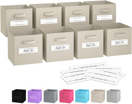 Royexe - Storage Cubes - (Set Of 8) Storage Baskets | Features Dual Hand... - £31.09 GBP+