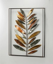 "27"" Iron Leaf Design 3D Wall Art in Black Frame - $69.29"