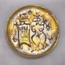 Vintage Fatto a Mano Ceramica Piatto Artistico Smalto - $98.91