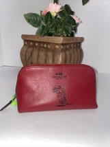 Coach Cosmetic Case Bag  x Peanuts Snoopy Red Smooth Calf Leather  F65208  M4 - $107.79