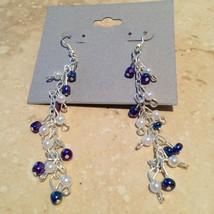 beautiful cascading beaded dangling pierced earrings - $19.99