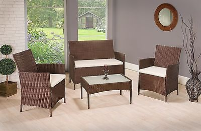 Garden Rattan Set Patio Wicker Furniture 4 Seater & Table Outdoor Indoor 4pcs image 2