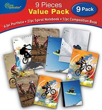 GENERATION - 2 Pocket Folder Sports 9/PC School Value Pack, Heavy Duty H... - $35.80 CAD