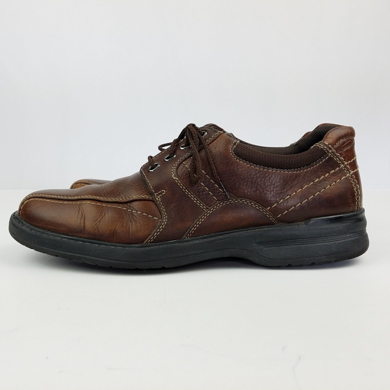 Clarks Sherwin Sz 10.5 M Mens Brown Leather Casual Shoe