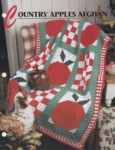 Country Apples Afghan, Annie's Crochet Afghan & Quilt Pattern Leaflet QA... - $3.95